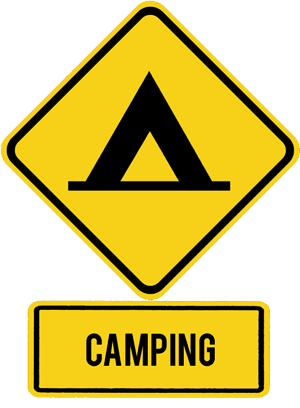 Camping Sign Possibilety to camp right